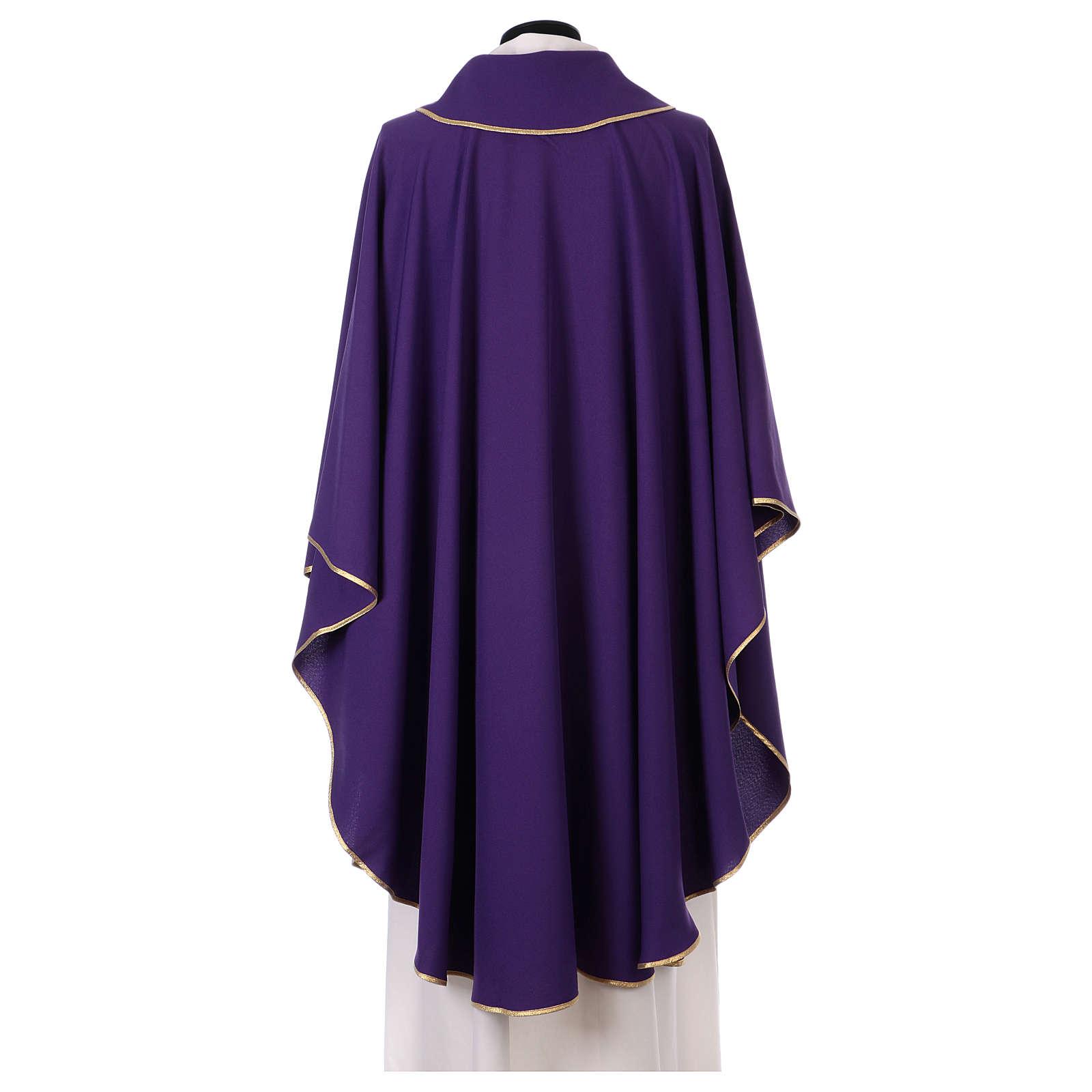 Casula stolone davanti tessuto Vatican 100% poliestere 4