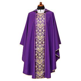 Casula stolone davanti tessuto Vatican 100% poliestere s3