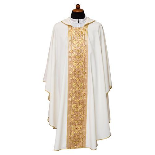 Casula stolone davanti tessuto Vatican 100% poliestere 2