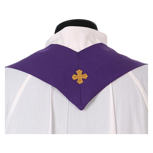 Casula stolone davanti tessuto Vatican 100% poliestere 5