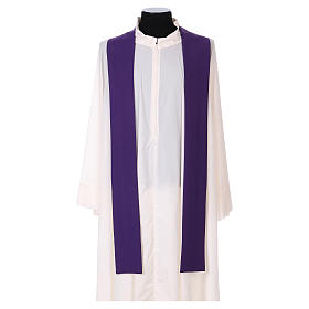Latin Chasuble with galloon on the front in Vatican fabric, 100% polyester s4