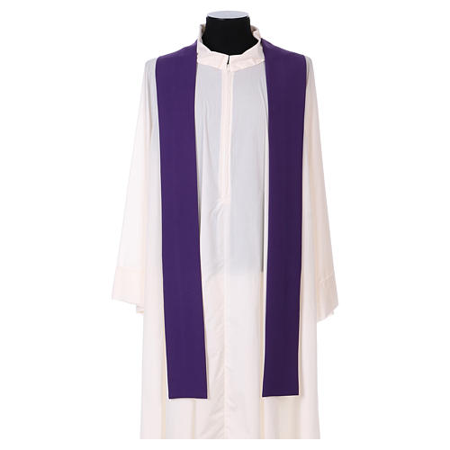 Latin Chasuble with galloon on the front in Vatican fabric, 100% polyester 4