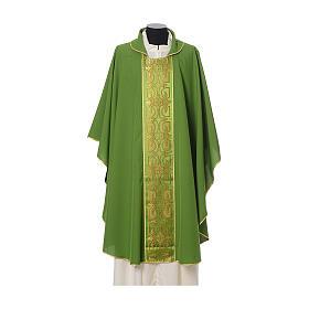 Casula con stolone fronte tessuto Vatican 100% poliestere s3
