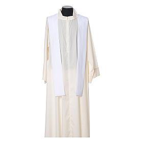 Casula con stolone fronte tessuto Vatican 100% poliestere s11