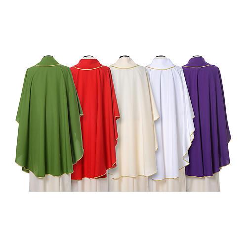 Casula con stolone fronte tessuto Vatican 100% poliestere 2