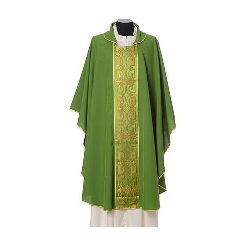 Casula con stolone fronte tessuto Vatican 100% poliestere 3