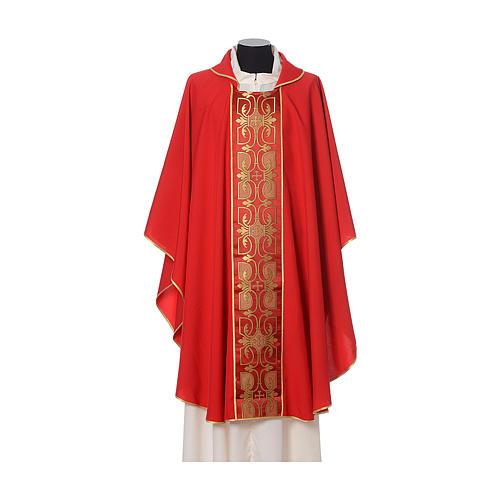 Casula con stolone fronte tessuto Vatican 100% poliestere 4
