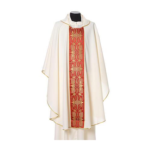 Casula con stolone fronte tessuto Vatican 100% poliestere 5