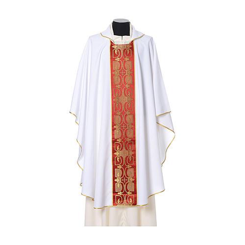 Casula con stolone fronte tessuto Vatican 100% poliestere 6