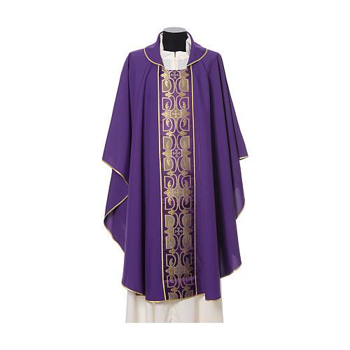 Casula con stolone fronte tessuto Vatican 100% poliestere 7