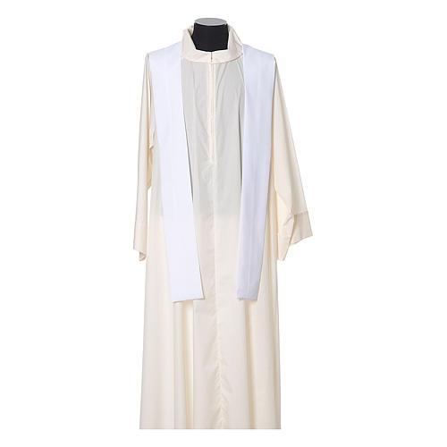 Casula con stolone fronte tessuto Vatican 100% poliestere 11