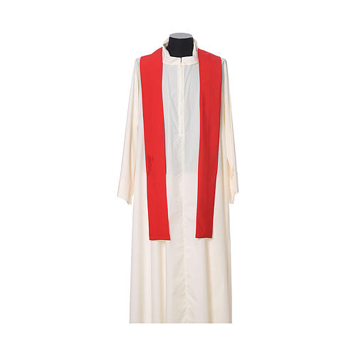 Chasuble with embroidered crosses on front in Vatican fabric, 100% polyester 9