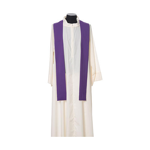 Chasuble with embroidered crosses on front in Vatican fabric, 100% polyester 12