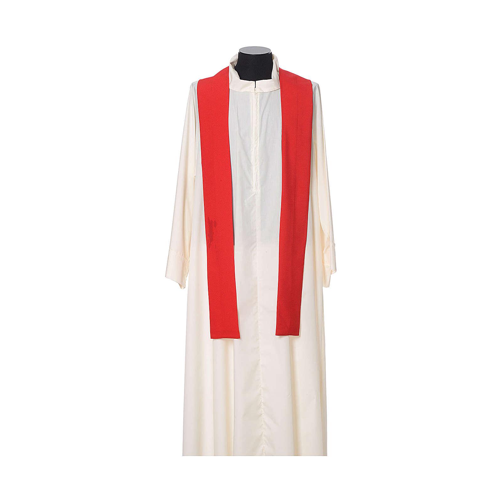 Chasuble bord croix avant tissu Vatican 100% polyester 4