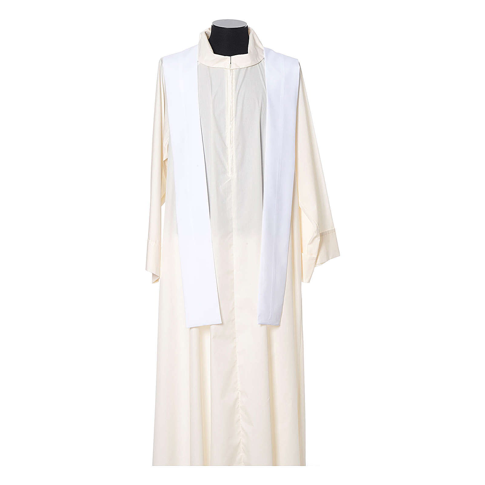 Casula bordo croci davanti tessuto Vatican 100% poliestere 4