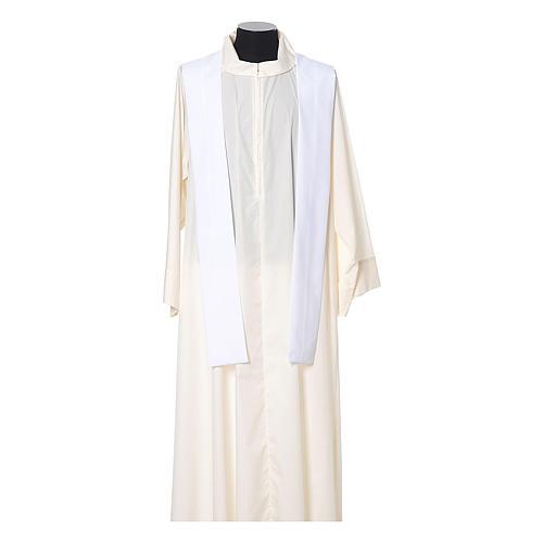 Casula bordo croci davanti tessuto Vatican 100% poliestere 11