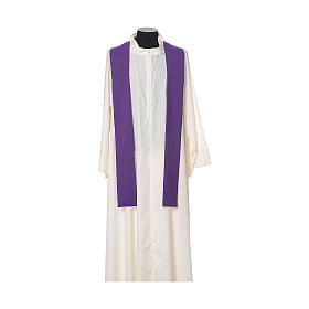 Gothic Chasuble with embroidered crosses on front in Vatican fabric, 100% polyester s12