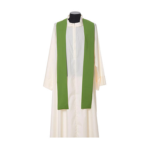 Gothic Chasuble with embroidered crosses on front in Vatican fabric, 100% polyester 8