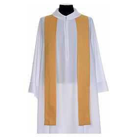 Chasuble dorée tissu or faille de laine s5