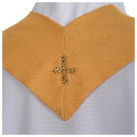 Chasuble dorée tissu or faille de laine s6