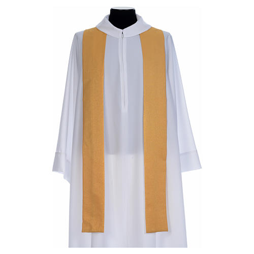 Chasuble dorée tissu or faille de laine 5