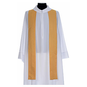 Gold Chasuble in wool faille s5