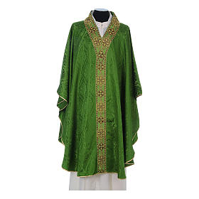 Catholic Priest Chasuble in damask sable s3