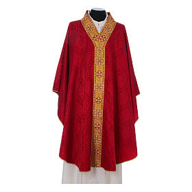 Catholic Priest Chasuble in damask sable s4