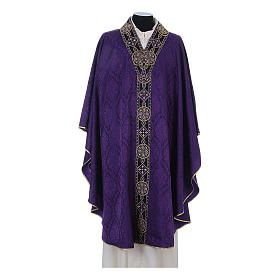 Catholic Priest Chasuble in damask sable s6