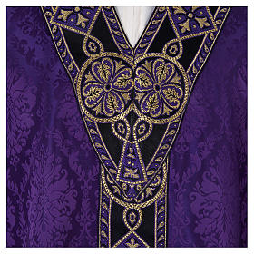 Catholic Priest Chasuble in damask sable s7