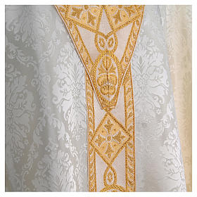 Catholic Priest Chasuble in damask sable s8
