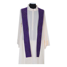 Catholic Priest Chasuble in damask sable s13