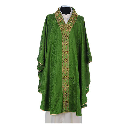 Catholic Priest Chasuble in damask sable 3