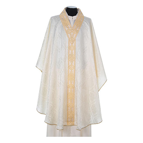 Catholic Priest Chasuble in damask sable 5