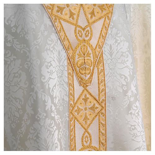 Catholic Priest Chasuble in damask sable 8