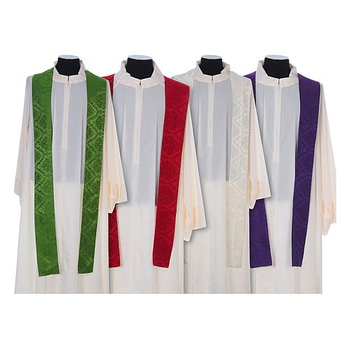 Catholic Priest Chasuble in damask sable 9