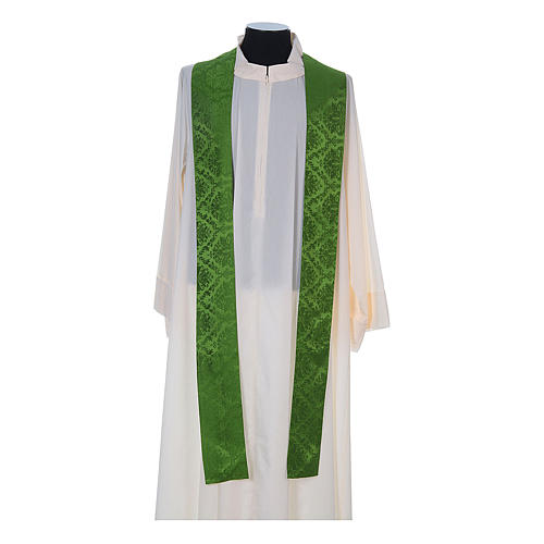 Catholic Priest Chasuble in damask sable 10