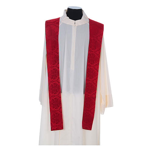 Catholic Priest Chasuble in damask sable 11