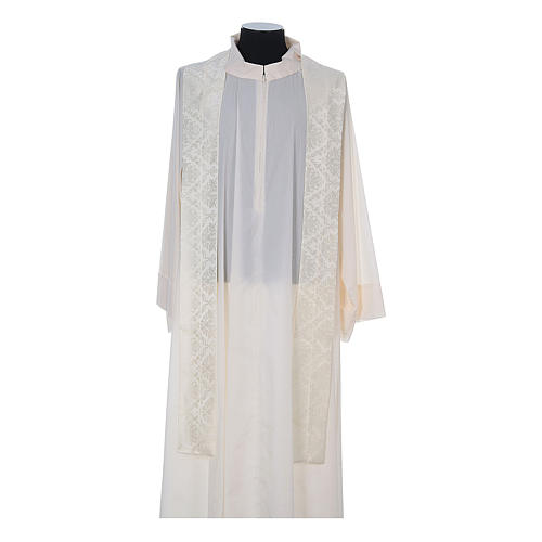 Catholic Priest Chasuble in damask sable 12