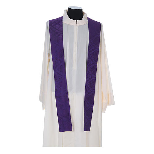 Catholic Priest Chasuble in damask sable 13