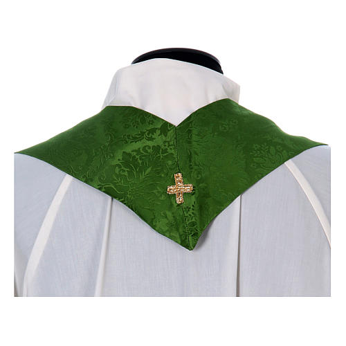 Catholic Priest Chasuble in damask sable 14