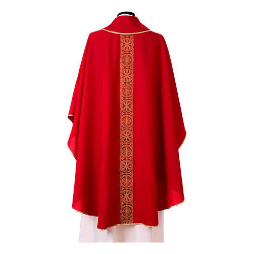 Casulla galón delante detrás tejido Vatican 100% poliéster 9