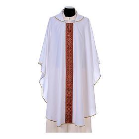 Chasuble bande avant arrière tissu Vatican 100% polyester s6