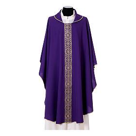 Chasuble bande avant arrière tissu Vatican 100% polyester s7
