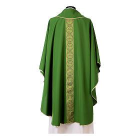 Chasuble bande avant arrière tissu Vatican 100% polyester s8
