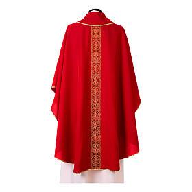 Chasuble bande avant arrière tissu Vatican 100% polyester s9