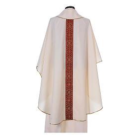 Chasuble bande avant arrière tissu Vatican 100% polyester s10