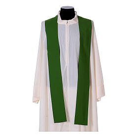 Chasuble bande avant arrière tissu Vatican 100% polyester s13