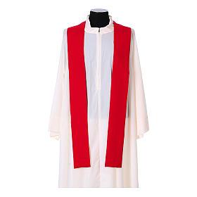 Chasuble bande avant arrière tissu Vatican 100% polyester s14