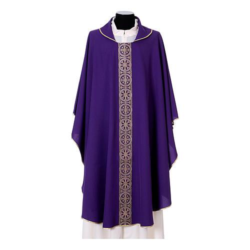 Chasuble bande avant arrière tissu Vatican 100% polyester 7